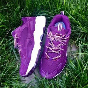 FILA Purple Suede Sneakers